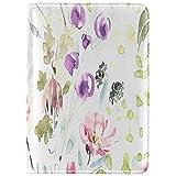 Pintado a mano-acuarela-flores-plantas-en-516634981 Funda de Cuero para Pasaporte Funda de Viaje One Pocket