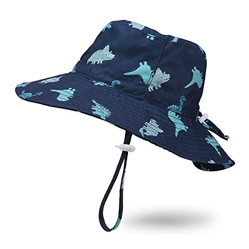 JUPSK Cappello da Sole per Bambini, Cappello da Pescatore per Bambini Cappello Estivo da Bambino Piccolo Ragazzi Ragazze UV Cappello da Spiaggia con Protezione