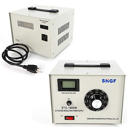 STG-1000W Single Phase AC Autotransformer Voltage Regulator Powerstat 0-300V Adjustable Voltage Transformer Converter - US Shipping