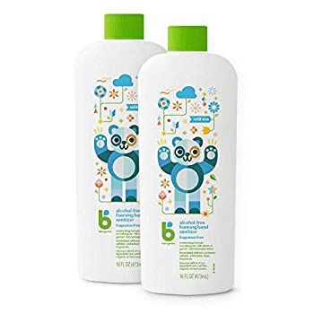Foaming Hand Sanitizer Refill Alcohol Free Unscented Kills 99.9% of Germs 16oz- Babyganics Pack of 2
