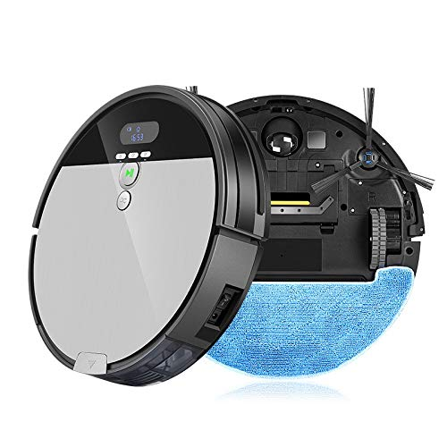 Best Buy! JIASHANHAO Robot Vacuum Cleaner Sweep&Wet Mop Navigation Planned Cleaning 0.75L Dustbin Ad...