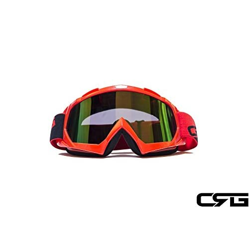 Motorcycle Cycling ATV DIRT BIKE OFF ROAD RACING SKI GOGGLES Glasses 504Red