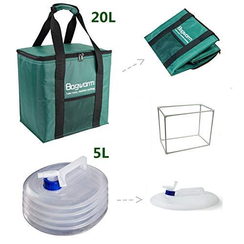 Dgyus Isolierte Picknick-Box, Faltbare Kühltasche und Faltbare Wasserbehälter, Outdoor-Camping-Anzug, geeignet für Outdoor-Camping, Picknick, Party im Freien,20L