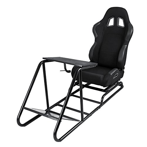 VEVOR Driving Simulator Gaming Chair Adjustable and Foldable Racing Cockpit Seat with Gear Shifter Mount for PS3 PS4 Xbox Play Station Consoles