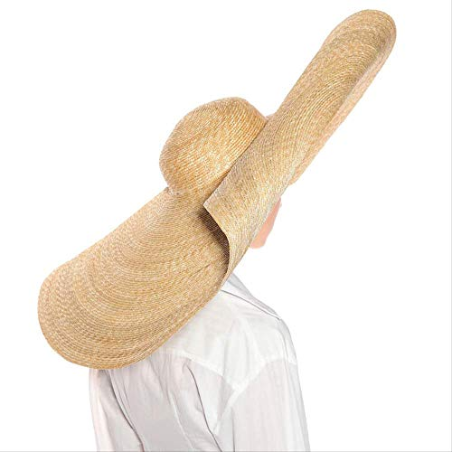 CLSWK Sombrero De Paja Sombreros De Paja Gigantes De Gran Tamaño para Las Mujeres Sombrero De Sol De Verano Sombrero De ala Grande De Boda Sombrero De Fiesta En La Playa Casquillo De Vacaciones