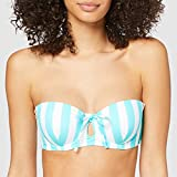 Marca Amazon - IRIS & LILLY Parte de Arriba de Bikini Bandeau Mujer, Multicolor (Midori), M, Label: M