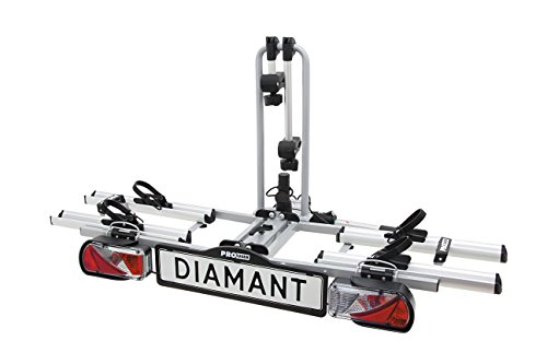 ProUser Diamant Bicycle Carrier Plata - Car Roofs & Rack Carries (Bicycle Carrier, 60 kg, Plata, Aluminio, Acero, Montaje de Enganche Trasero, Montura, Rueda)