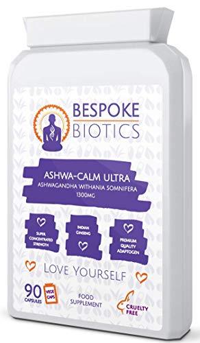 Ashwagandha 1300mg Intro Offer Vegan Indian Ginseng. Ashwa-Calm Ultra Withania Somnifera 90 Capsules