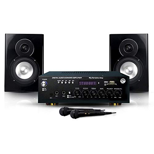My Karaoké 150W Enceintes & Amplificateur & 2 Mics