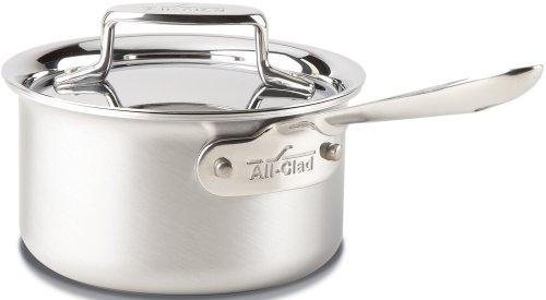 All-clad bd55201.5cepillado D55capas de acero inoxidable para lavaplatos sartén/utensilios de cocina, molde, color plateado, Acero inoxidable, 1.4 litros, 1