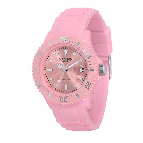 Pastell Rosa Madison New York Candy Time Unisex Armbanduhr