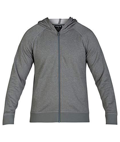 Hurley Men's Nike Dri-Fit Disperse Zip Fleece Hoodie, Cool Grey, M