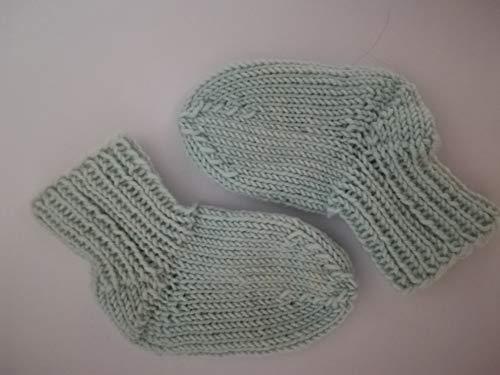 Babysocken, 0-3 Monate, Neugeborene, Erstlingssocken, gestrickt, Handmade, Handarbeit
