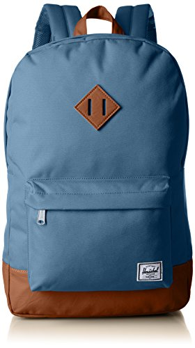 Herschel Supply Co. Patrimonio mochila, Stellar/Tan Synthetic Leather (azul) - 10007-01334-OS