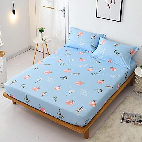 XLMHZP Funda de colchón de diseño impreso cómoda sábana bajera ajustable humedecida transpirable protector de colchón, ropa de cama para niños, adolescentes, niñas y niños-9_150x200cm+25cm (1pcs)