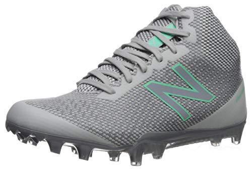 New Balance Women's BurnX Mid Cut Lacrosse Shoe, Grey/White, 12 B US
