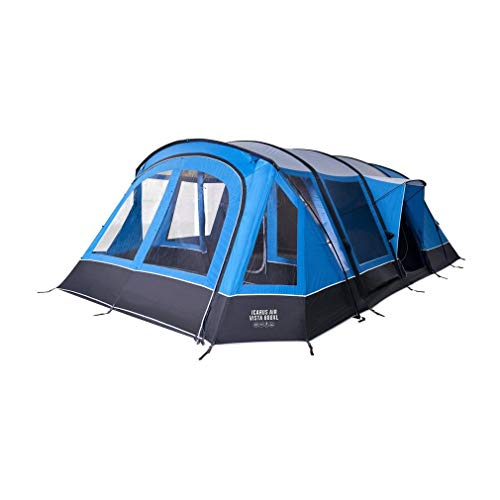 Vango Icarus Air Vista 600XL 6 Person Inflatable Tent, Blue, One Size