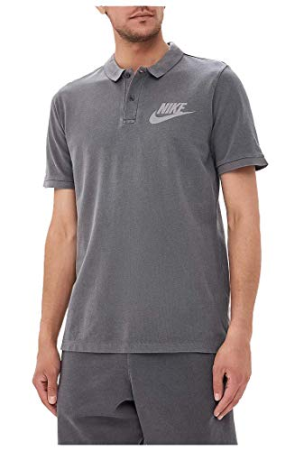 Nike Mens M NSW Polo PQ Wash HBR 886491-010_XL - Black/Anthracite/Cool Grey