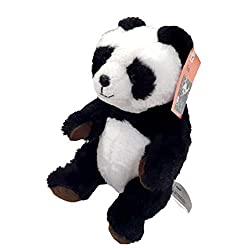 Height: 22 cm, Sitting panda. Extra soft toy. WWF Panda - The particularly fluffy and lifelike stuffed animal. Collection of WWF convinced by high quality and safety standards and is therefore particularly suitable for babies and toddlers. With the p...