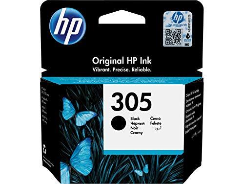 HP 305 3YM61AE, Cartucho Original de Tinta Negro, Compatible con impresoras de inyección de Tinta HP DeskJet Serie 2700, 4100, Envy Serie 6020, 6030, 6420, 6430