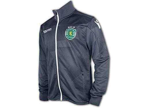Macron Sporting Lissabon Jacke grau Sporting Clube de Portugal Anthem Jacket, Größe:3XL