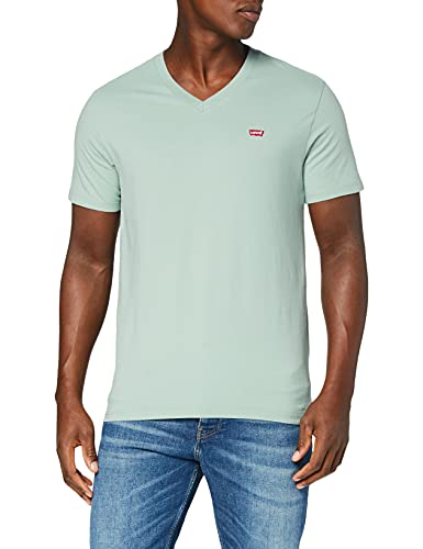 Levi's Orig HM Vneck T-Shirt, Blue Surf, XL Homme