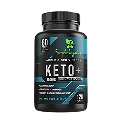 High Strength Apple Cider Vinegar Capsules with The Mother + BHB Keto Diet Pills Faster Ketosis with Energy, Weight Loss & ACV Detox Support