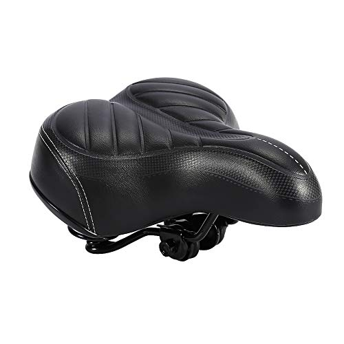 Natruss Pad Saddle Seat Suspension Coil Springs Comfortable Big Bum Bike Saddle Seat for Mainstream Bike Road Bikes