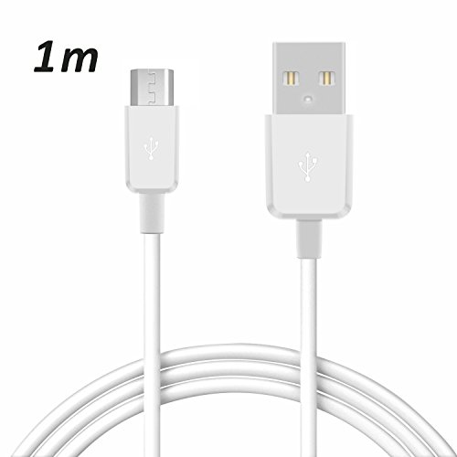 TheSmartGuard 1 x Samsung Galaxy S4 Datenkabel/Ladekabel/S 4 / S IV GT-I9500, GT-I9505 / S4 Mini - Micro USB/Premium Kabel in weiß - 1 Meter