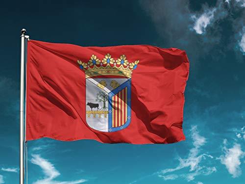 G I Bandera Salamanca | Medidas 150cm x 85cm | Fácil colocación | Decoración Exteriores (1 Unidad)