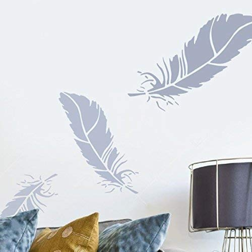 Feder schablone, hausdekoration Schablone, wand malen, kunst handwerk, viele größen, Ideal Stencils Ltd - S/25cm/10