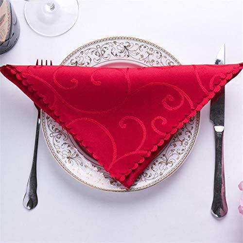 QINS 10 Pcs/Ensemble 48 * 48 cm Serviette pour La Fête De Mariage Mouchoir en Satin Tissu Serviettes De Table De Mariage Table Décoration Textiles De Maison, 1