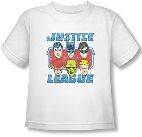 Dc - Toddler Faces Of T-shirt Justice, 2T, White