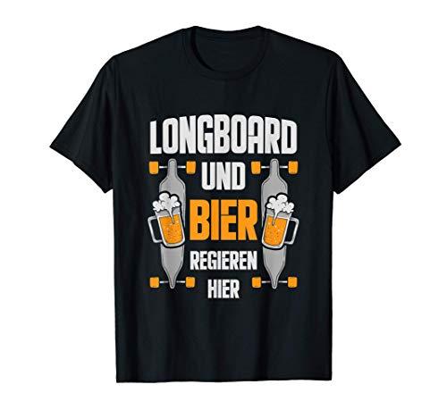Longboard Und Bier Longboarder Skater Skateboard Geschenk T-Shirt