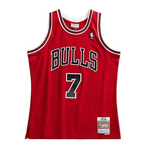 Mitchell & Ness Chicago Bulls 7 Toni Kukoc 97-98 Red Replica Swingman Jersey 2.0 Basketball Trikot