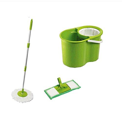 Xuan - worth having Rotation de la main à la main Mop Mop Flat Mop Bucket Wooden Floor Mop Mop Vapeur rotatif