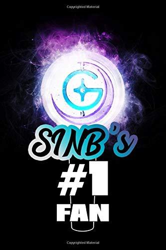 SinB's #1 Fan: GFriend Glowing Lightstick 120 Page 6 x 9' Lined Notebook Kpop BUDDY Fandom Merch Journal Book