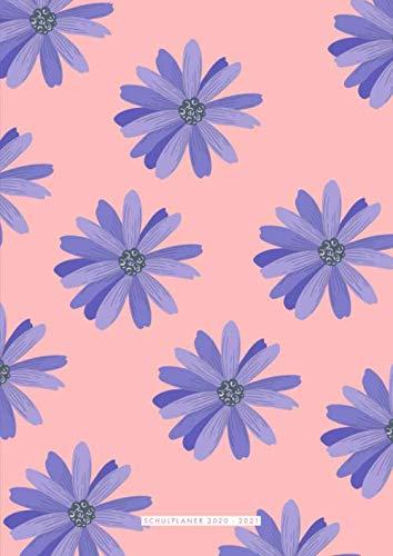 Schulplaner Lehrer 2020 2021 A4: A4 Kalender für Lehrerinnen und Lehrer, Floral Design, rosa