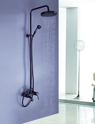 XXW Duschsystem Wasserhahn Duscharmaturen - Antik - Regendusche/Handdusche inklusive - Messing (Bronze mit Ölschliff)