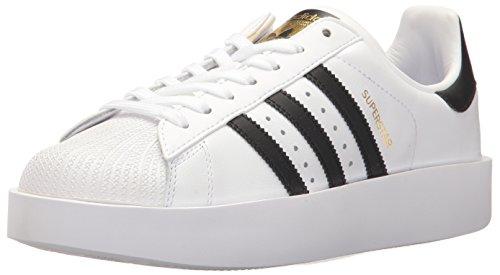 adidas SUPERSTAR BOLD W Women's Shoes | Superstar Bold, White/Black/Metallic Gold, 7.5 Medium US