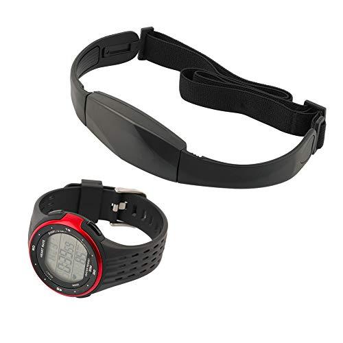 MIAOGOU Herzfrequenzuhr Herzfrequenzmesser Laufsportuhren Outdoor-Sportuhren Drahtlose Brustband-Herzfrequenzuhr Herzfrequenzmesser-Uhr + Brustgürtel-Digitaluhren