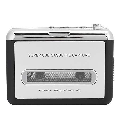 Reproductor de Casete Reproductor de Casete estéreo portátil Adaptador convertidor de Audio de Cinta a MP3 con Cable USB Reproductor de Casete USB Ligero