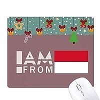 私はインドネシアから ゲーム用スライドゴムのマウスパッドクリスマス