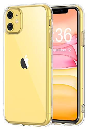 Bovon Coque pour iPhone 11, [Cristal Limpide] Ultra Mince Étui Protection Absorption de Choc, Coque Anti-Rayures en Silicone TPU Compatible avec iPhone 11 6.1 Pouces (2019)