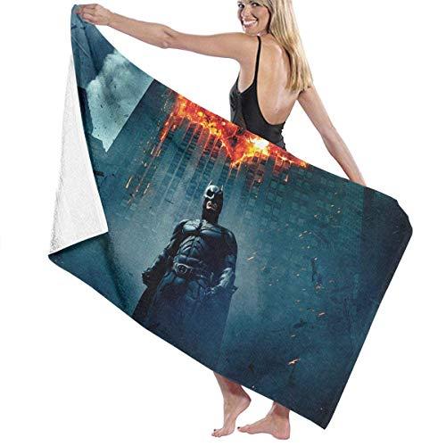 AGSIGGS The Dark Knight Bat-Man Toalla de Playa de algodón de Microfibra Absorbente Toallas de baño de Secado rápido para Mujeres, niños