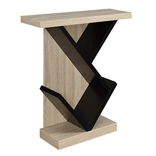 Folding table NAN Consolle - Moderne strisce minimaliste in legno massello contro il muro, lunghe strisce, tavolo stretto, vista laterale, armadietto del vino, nuovo banco portico cinese