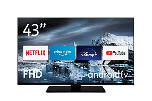 Nokia Smart TV 4300B 43 pollici TV LED (Full HD, AV Stereo, contrasto dinamico, assistente vocale, triplo sintonizzatore - DVB-C/S2/T2), Android TV, con telecomando Bluetooth