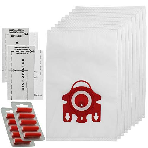 Spares2go 3D Type FJM Hyclean Sacs pour Miele Compact Complet C1 C2 Aspirateur (10 Sacs + Filtres à Air Micro + Assainisseurs)