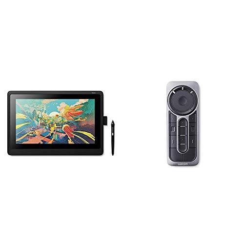 Wacom Cintiq 16 Kreativ-Stift-Display Tablet (zum Skizzieren, Illustrieren & Zeichnen direkt auf dem Bildschirm, mit Full HD Display (1.920 x 1.080)) & ExpressKey Fernbedienung