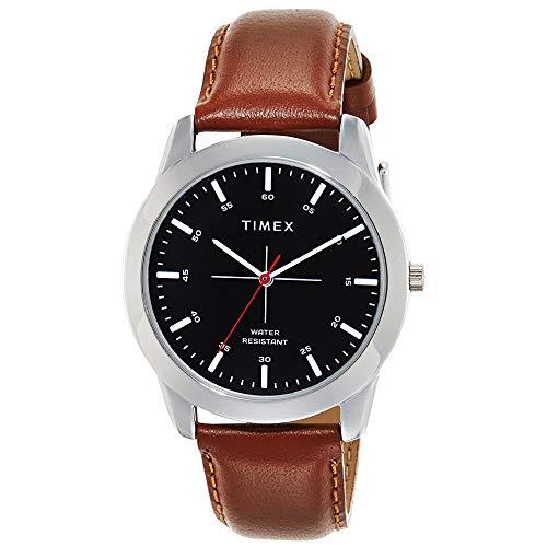 Timex Reloj analógico de hombre con esfera negra-TW00ZR264E